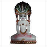 Polished Marble Lord Swami Narayan Statue