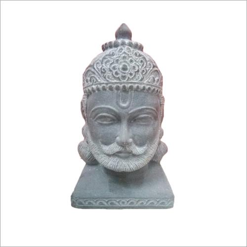 White Marble Maharana Pratap Head Bust
