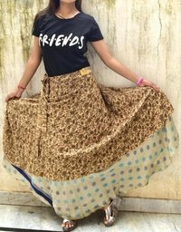 Ladies Cotton Vintage Silk Skirts