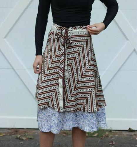 Women Silk Vintage Skirts
