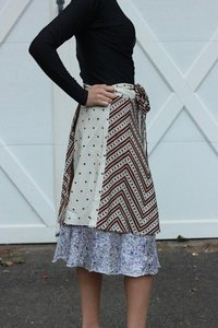 Women Fancy Vintage Silk Skirts