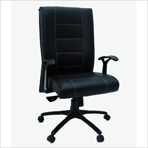 Genuine Black Leather Office Chair