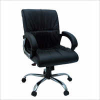 Black Leather Revolving Chair