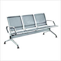 Stainless Steel 3 Seater Visitor Chair