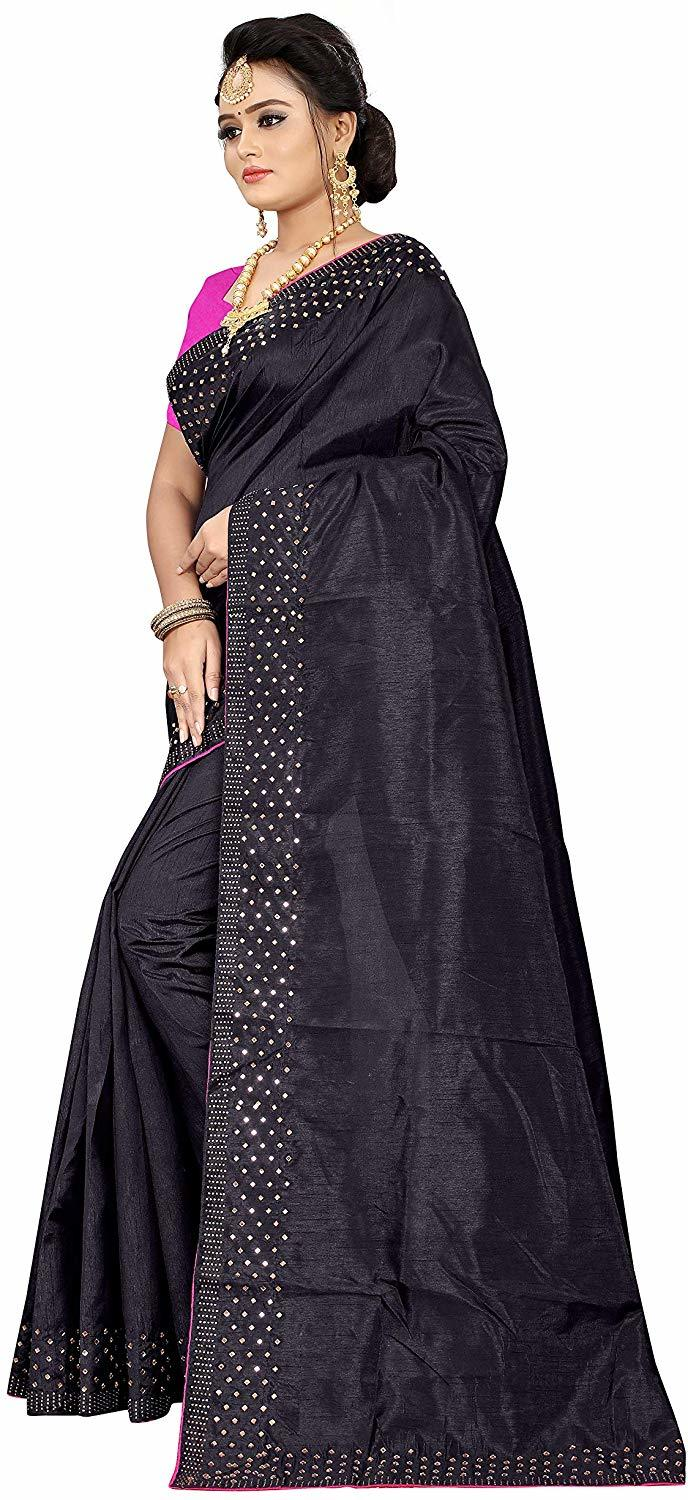 Designer Mirror Work Saree