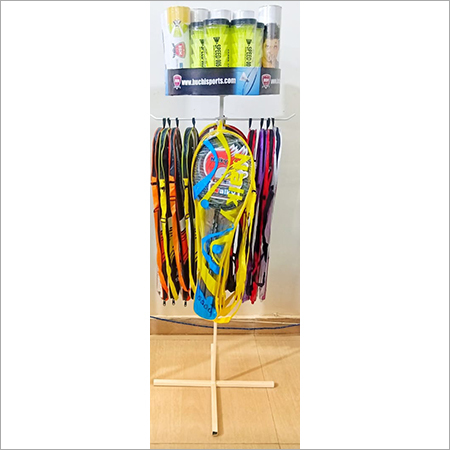 Badmintion Racket & Shuttle Cock Display Stand