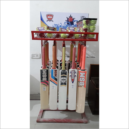 Cricet Bat & Tennis Ball Square Shape Display Stand