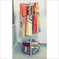 Cricket Bat And Tennis Ball Round Shape Display Stand