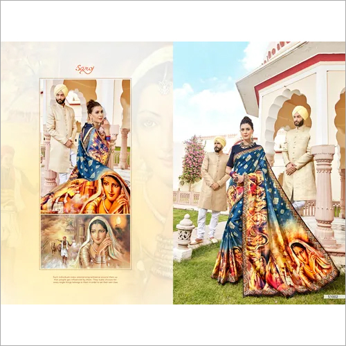 Digital Elegant printed sarees