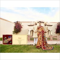 Digital Print floral design saree