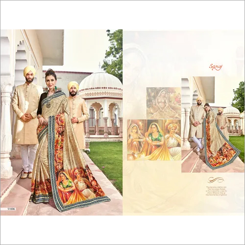 Digital print fancy designer sarees