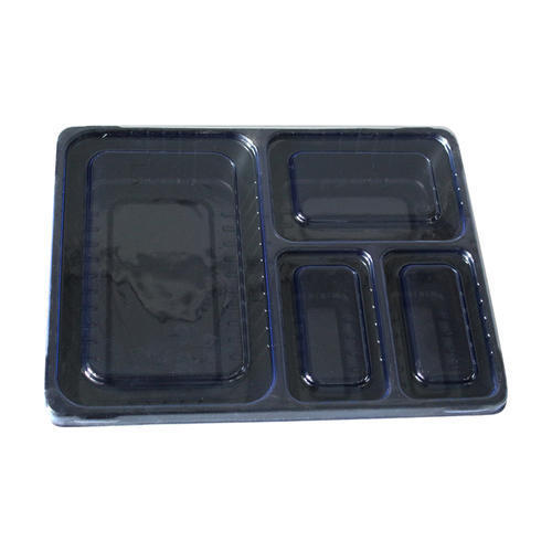 4 cavities food packaging tray