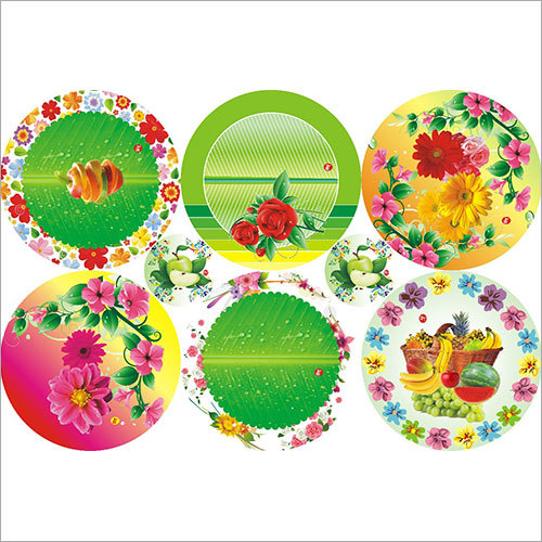Floral Printed Paper Plate Raw Material