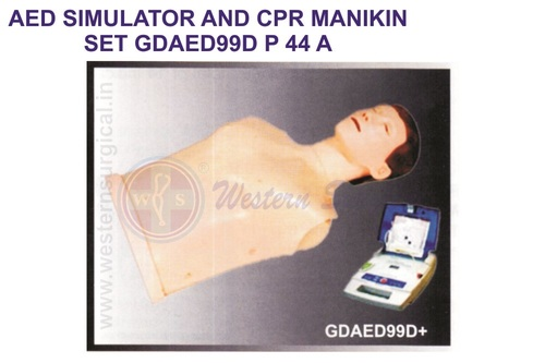 AED SIMULATOR AND CPR MANIKIN SET GDAED99D
