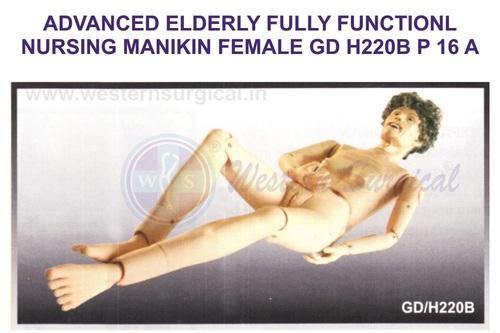 ADVANCED ELDERLY FULLY FUNCTIONL NURSING MANIKIN FEMALE GD H220B