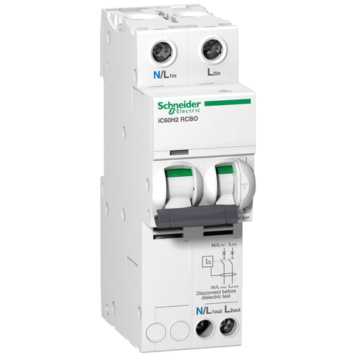 RCBO(Residual current device with overload) 6 to 63A, 30 to 300mA