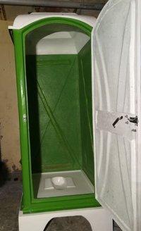 Green Single Seater Mobile Toilet