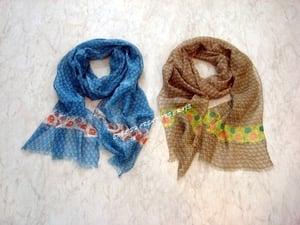 Wholesale Chiffon Embroidered Scarves