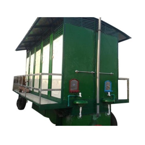 Ten Seated Regular Portable Toilet Trolley