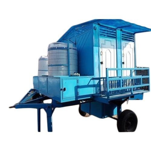 Four Seated Mobile Toilet Trolley