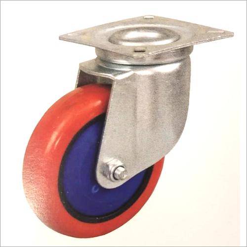 6 X 2 Inch Swivel Head Heavy Duty Zinc Plated Pressed Steel Castor Wheel