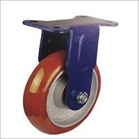 Fixed Heavy Duty PU On Aluminum Hub Castor Wheel