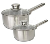 Encapsulated Regular Sauce Pan with Riveted Steel Handle