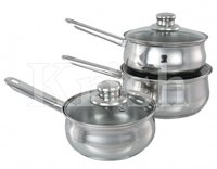 Encapsulated Belly Sauce Pan With Steel Handle