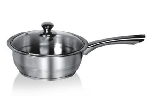 Encapsulated Professional Sauce Pan with Steel Handle