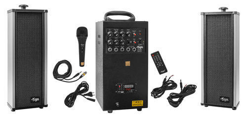 80 Watts Portable System With USB, Bluetooth,Echo,Recording & 2 External Speaker