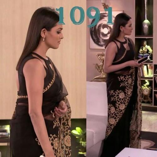 NET WITH EMBROIDERY WORK BOLLYWOOD DESIGNER  SAREE
