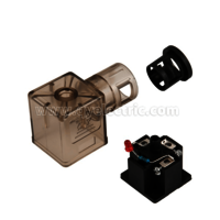 DIN 43650A Screwed pipe Solenoid valve connector LED with Indicator or Light