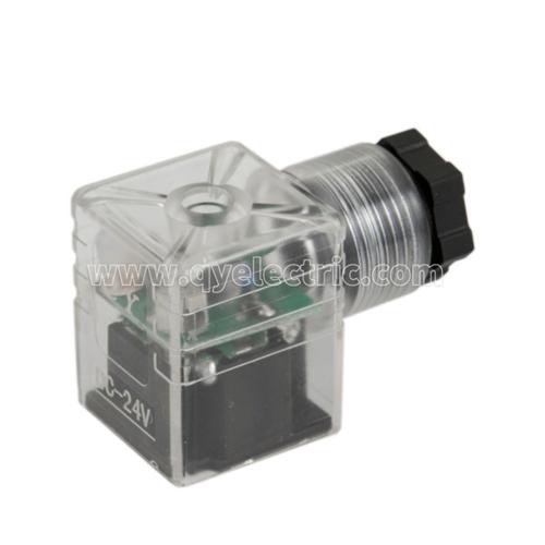 DIN 43650B Solenoid valve connectors LED,Female power connector,PG9
