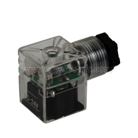 DIN 43650B Solenoid valve connectors LED,Female power connector,PG9