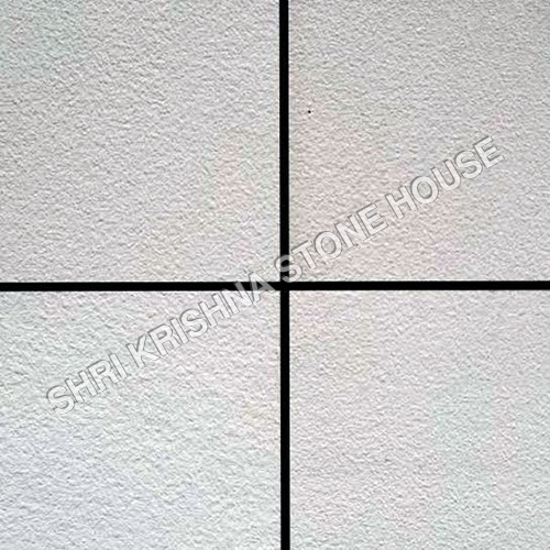 Gwalior White Short Blasted Stone