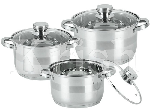 Encapsulated Professional Measuring Casserole with Glass Lid