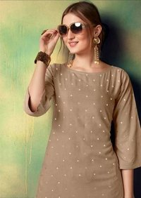 Rayon Embroidery Wholesale Kurti