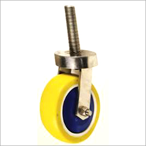 SS 304 Grade Thrust Bearing Castor Thread Pin With PU Wheel