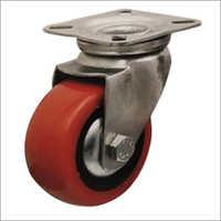 4 X 2 Inch Swivel Head Zinc Plated Pressed Steel Medium Eyelet Castor Wheel