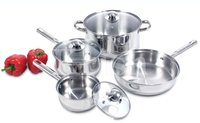 Encapsulated Regular Cookware Set with Steel Handles-7/8/10/12 Set