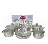 Encapsulated Regular Cookware Set With Riveted Steel Handles