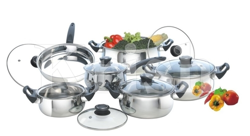 Encapsulated Belly Cookware Set with Bakelite Handle - 7/8/10/12 Pcs set