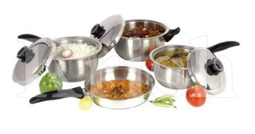 Encapsulated Millennium Cookware Set with Steel Handles-7/8/110/12 Pcs Set