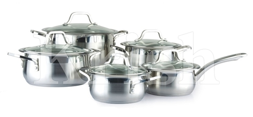 Encapsulated Classic Cookware set with Steel Handles 1/8/10/12 Pcs Set