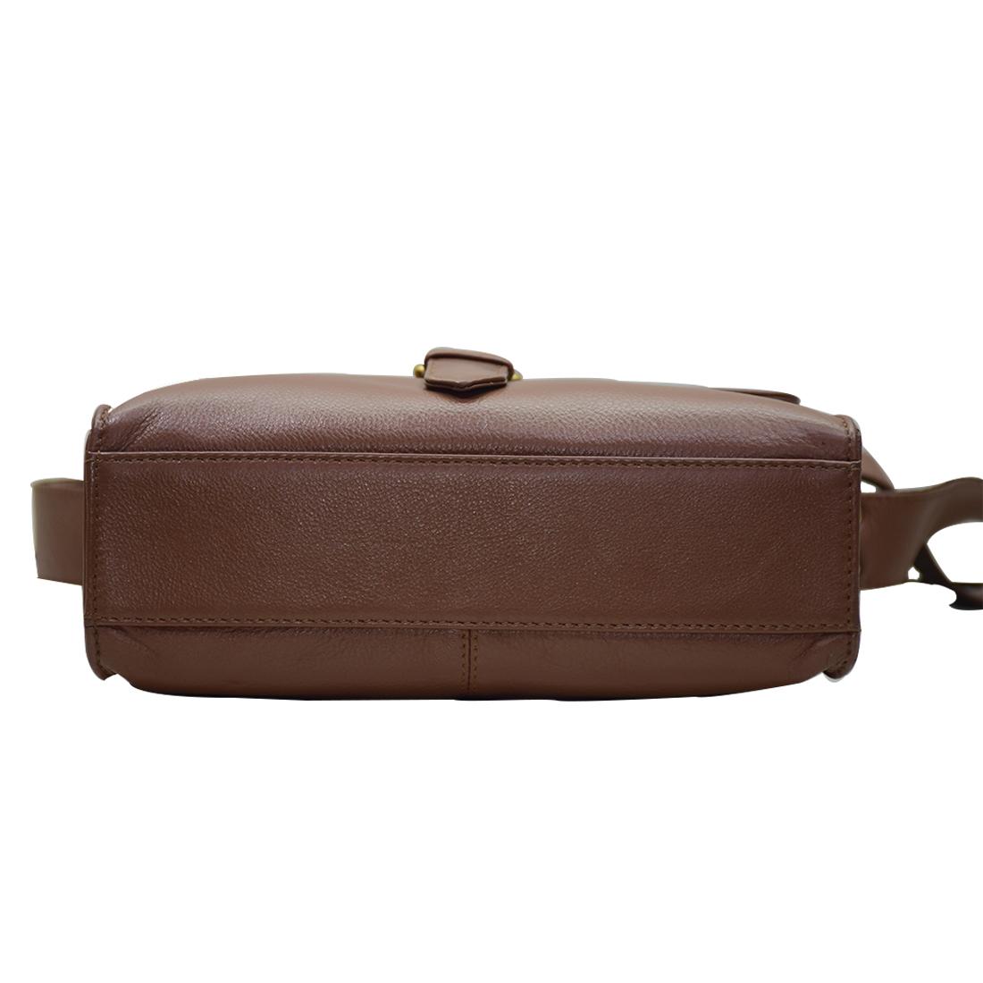 Leather Office Sling Bag