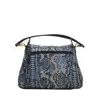 Leather Shoulder Bag Snake Printed