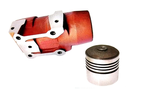 Ram Cylinder With Piston Red 76mm
