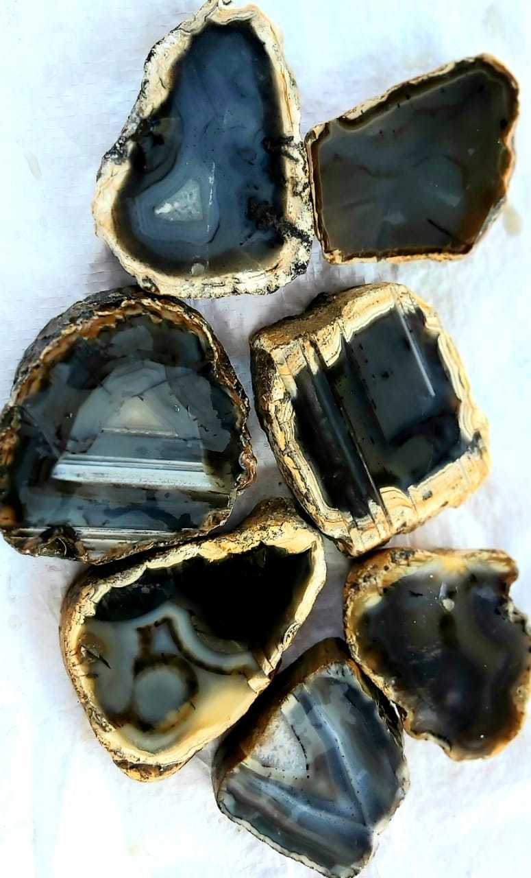 Indian supply of multi color agate stone slice and plate for decorative slab