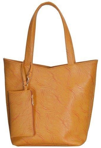 Mustard Shoulder Tote Handbag