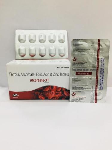 ferrous ascorbate 100 mg + folic acid 1.5 mg + zinc 22.5 mg tablet